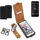 K-S-Trade Flipstyle Hülle für Shift Shift4 Handyhülle Schutzhülle Tasche Handytasche Case Schutz Hülle + integrierter Bumper Kameraschutz, schwarz (1x)