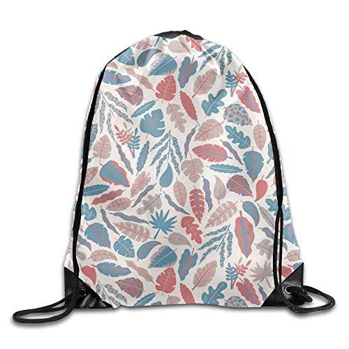 302fa0cb16721 Colorful Leafs Gym Drawstring Backpack Unisex Portable Sack Bag