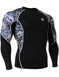 Fixgear Homme Femme Skin Cycling Base Layer Tight Tee Shirt Manches longues