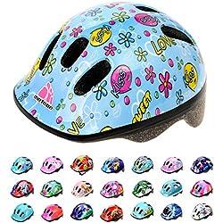 Casco Bicicleta Bebe Helmet Bici Ciclismo para Niño - Cascos para Infantil Bici Helmet para Patinete Ciclismo Montaña BMX Carretera Skate Patines monopatines MV6-2 (S(48-52cm), Kiss Love)