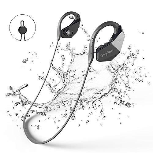GogoTool Bluetooth Wasserdichte Kopfhörer 8GB MP3-Player, Bluetooth 4.1 IPX8 Wireless Super Bass In Ear Sport Sweatproof HiFi Stereo-Ohrhörer Integrierte Mikrofon mit Noise Cancelling Tech - Schwarz