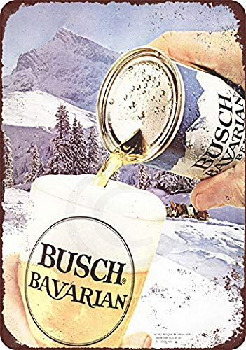 Harvesthouse 1962 Busch Bavarian Beer Vintage Reproduction Metal Sign 8 x 12 by Bavarian Beer House