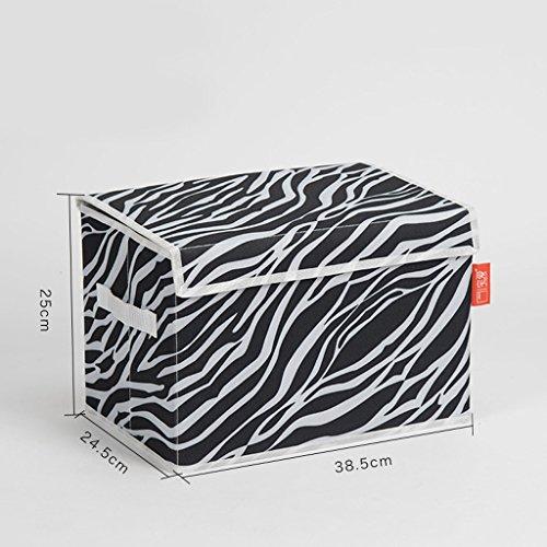 SENBUN Tuch Faltende Aufbewahrungsbehälter-Kinderkleidung Spielwaren-Rückstand-Speicher-Korb mit Deckel,Satz von 2 ( farbe : Schwarz , größe : S ) (Schwarz-speicher-körbe)