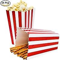 Cajas de Palomitas, Ouinne 24PCS Popcorn Boxes Maíz Envases del Sostenedor Cajas de Cartón de