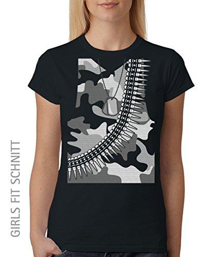::: YMCA ::: 6er SET ::: SOLDAT ::: Unisex T-Shirt Schwarz, Größe 3XL (Militär T-shirt Dog)