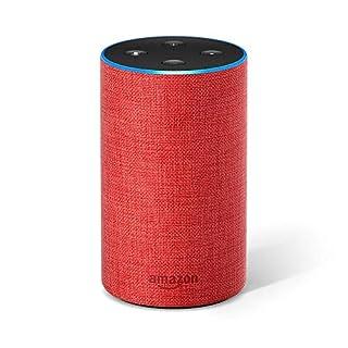 Amazon Echo (2. Gen.), Intelligenter Lautsprecher mit Alexa, (RED)-Edition
