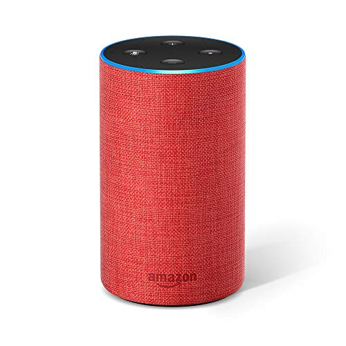 Amazon Echo (2. Gen.), Intelligenter Lautsprecher mit Alexa, (RED)-Edition