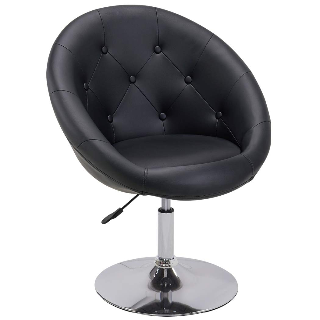 Sessel in Schwarz höhenverstellbar Kunstleder Clubsessel Coctailsessel Lounge Sessel Duhome 0331 1