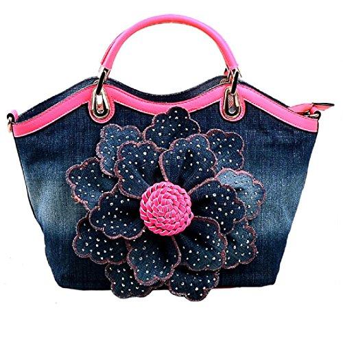 Donna borsetta Elegante Rose Totalizzatore Borse per maniglie , red Pink