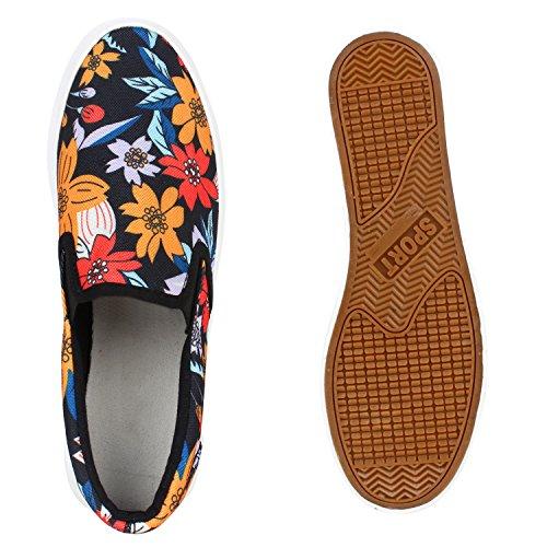 Pintura De Coloridas Sapatos Deslizamento Flores ons Chinelo Pretas Senhoras Briga Plataforma Dandy qZIBx0wU