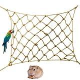 Volwco Kletternetz für Vögel, Papageien, Klettern, Käfig, Spielzeug für kleine Tiere, Kletterseil, Netze für Hamster, Vögel, Papageien, Nymphensittiche