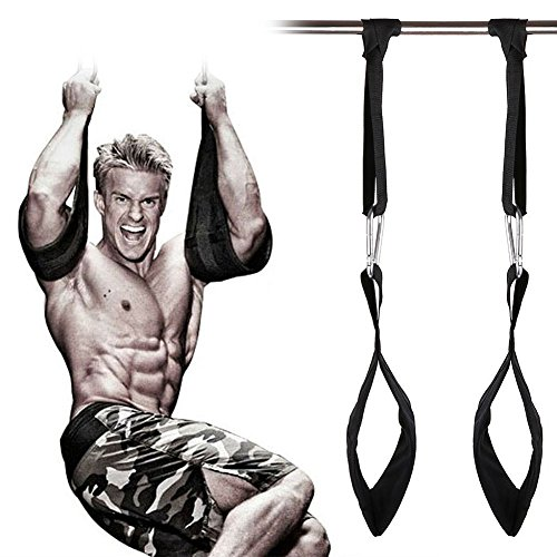 grofitness Gepolsterte Pull Up Muscle Bauch-Carver Aufhängen Gürtel Crossfit Home Gym AB Straps