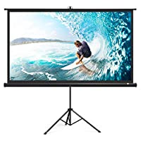 "TaoTronics TaoTronics Projector Screen with Stand, TT-HP020 Indoor Outdoor Movie Projection Screen 4K HD 120"" 4:3 with Wrinkle-Free Design (Easy to Clean, 1.1 Gain, 160° Viewing Angle & Includes a"
