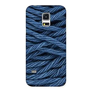 NEO WORLD Remarkable Denim Rope Back Case Cover for Galaxy S5 Mini