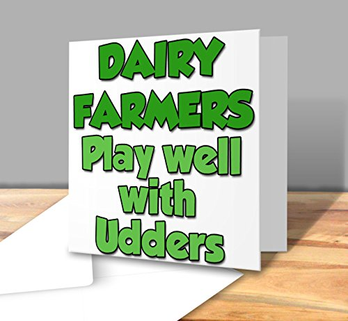 dairy-farmers-play-well-with-udders-for-a-farmer-square-greeting-card