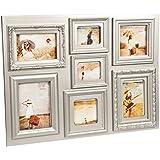 Balvi Baroque - Marco múltiple, 7 fotos, 44 x 60 cm, color plateado