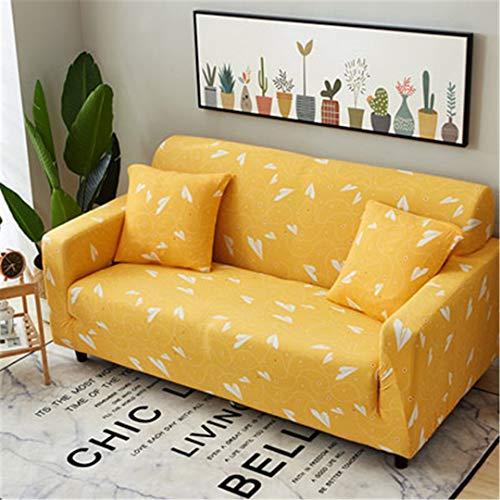 SHFOLSFH Inkjet-Muster elastische Stretch Universal Sofa Abdeckungen Schnitt Werfen Couch Ecke Cover Cases für Möbel Sessel Home Decor 16 Four seat Sofa -