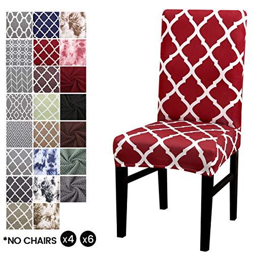 Cubierta para silla LiveGo, paquete de 4 cubiertas para silla de comedor...