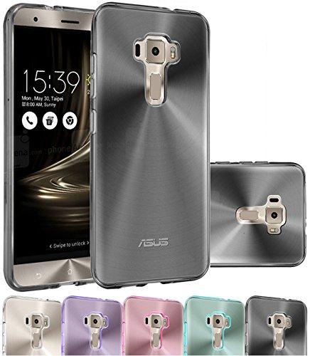Housse Asus Zenfone 3 ZE552KL, Etui Housse Coque de protection Ultra Fine Silicone TPU Gel Pour Asus Zenfone 3 ZE552KL (Jelly - Noir)