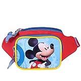 Kinder Gürteltasche für Junge Disney Mickey Mouse - Hüfttaschen mit Frontaldruck aus Micky Maus Wunderhaus - Bauchtasch für die Schule und Reise mit Verstellbare Beckengurt - 11x21x8 cm - Perletti