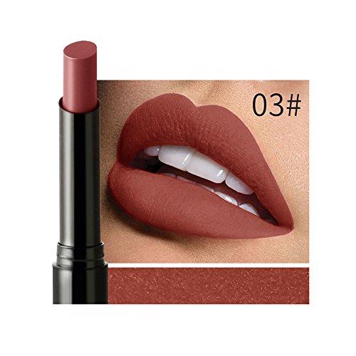 Rouge à Lèvres Imperméable,Matte Brillant À Lèvres Longue Durée Velvet Maquillage Bringbring