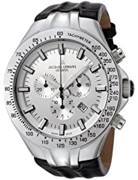 Jacques Lemans Herren-Armbanduhr Geneve Chronograph Quarz Leder G-217B