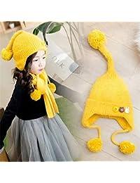 FRGVSXZCX Moda Cappelli Cappello Bambini Cappello di Lana Bambino Inverno  3-6 Anni Bambino Moda Cartoon Lungo Coda Paraorecchie Cappello… f110e62caed0