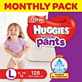 #1: Huggies Wonder Pants Large Size Diapers Monthly Pack (128 Count)