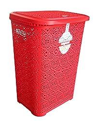 NAYASA FLOWER LAUNDRY BASKET (RED)