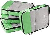 AmazonBasics - Set da 4 cubi organizzatori, misura grande, Verde