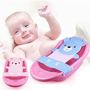 EQLEF® Neugeborene Baby-Badesitz Unterstützung Net Badewanne Sling, Blau