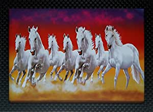 Buy Shree Handicraft Seven White Horse 7 Horses Wall