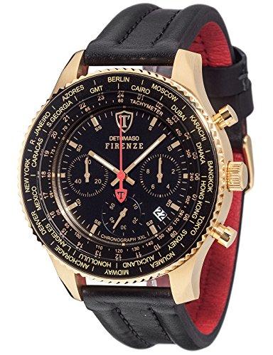 DETOMASO Herren-Armbanduhr Chronograph Quarz DT1045-H