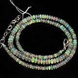 Fire Ethiopian Welo Opal Smooth Rondelle Loose Gemstone Craft Beads Strand Necklace 3mm 5mm