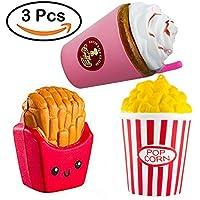 ZhengYue Fidget Toys, 3 PCS Porte-clé De haricot Pois Jouet Pression Ejecté Drôle Amusant Décompression Cool