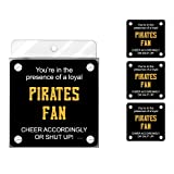 Tree-Free Greetings nc38098 Piraten Baseball Fan 4er Pack Künstlerische Untersetzer Set