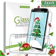 Aonsen Protector de Pantalla Galaxy S7 Edge,[2 Pack] 3D Full Coverage Templado Protector de Pantalla, Dureza de 9H, Anti-rasguños, HD Vidrio Templado Protector para Samsung Galaxy S7 Edge - Transparente
