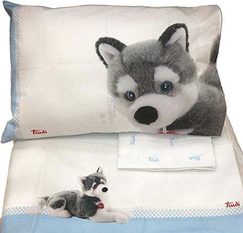 Bettlaken Bett Baby mit Seiten Marcus (Bettlaken 120x 180+ sottol 60x 130+ 1Kissenbezug 40x 60) (Marcus Seite)
