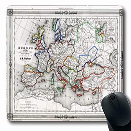 Die Schweiz-antiken-karte (Gsgdae Mauspad Schweiz Antik Karte Europa 10Th Jahrhundert Stadt Vintage Italien Old France Spanien längliche Form 7,9 x 24,1 cm rechteckig Gaming Mauspad Anti-Rutsch Gummi Computer Notebook)