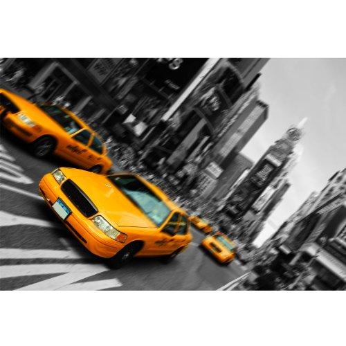 Poster / Tela - Citta' NEW YORK TAXI GIALLO - USA America - ARREDAMENTO - 50x70cm - Carta Fotografica