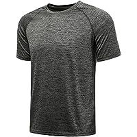 KomPrexx Sport T Shirts for Men - QUICK DRY WICKING - Running Tops Training Tee Short Sleeve Sportswear