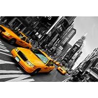 Ciudad/Lienzo-Póster de taxis amarillos de Nueva YORK-Estados Unidos de América mobiliario-009-mobiliario