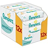 Pampers - Sensitive - Lingettes Bébé - Lot de 12 Paquets de 56 (x672 lingettes)