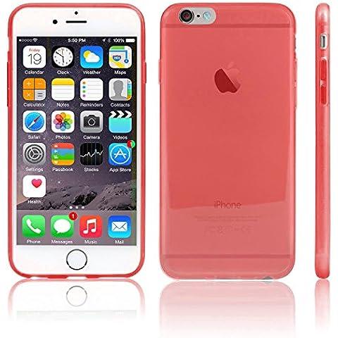TBOC® Funda de Gel TPU Roja para iPhone 6 Plus (5.5 Pulgadas) de Silicona Ultrafina y Flexible