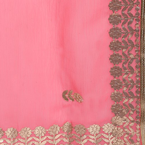 Fasherati Pink Color Bordered Saree with Blouse for Women