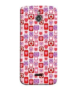 PrintVisa Designer Back Case Cover for InFocus M2 (Cute Red And Pink Heart Design)