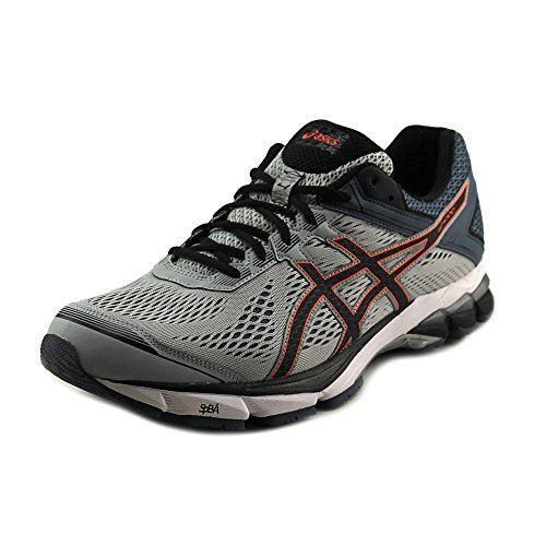 Asics GT-1000 4 Synthétique Chaussure de Course Silver Grey-Black-Hot Orange