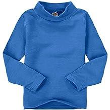Casa Niños unisex Tops chica niña de manga larga camiseta de algodón cuello  alto Tee variedad a219e4b82bf5