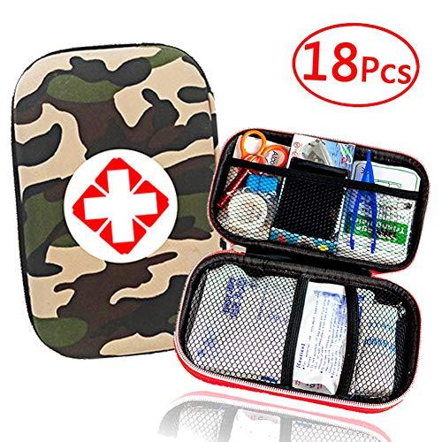 Outdoor Kleines Erste-Hilfe-Set 44 Stück Hard Case Und Lightweight Instant Cold Pack, Notfalldecke, Für Reisen, Heim, Büro, Fahrzeug, Camping, Arbeitsplatz,Grün -
