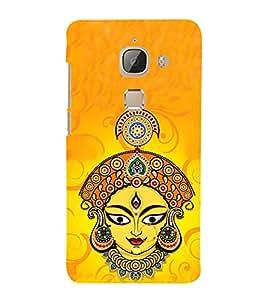 HiFi Designer Phone Back Case Cover LeEco Le Max 2 :: LeTV Max 2 ( Ma Durga Bengal Hindu God Jai Mata Di Colorful )